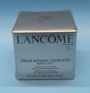 Lancome High Resolution Eye Refill - 3X  Eye Cream 0.5 oz 15ml