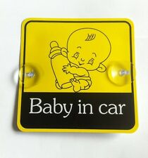 Bebé en seguridad Coche con Ventosas coche vehículo signos de seguridad infantil