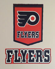 "Philadelphia Flyers NHL FATHEAD Official Banner 17"" x 12"" & Team Sign 19"" x 6.5"""