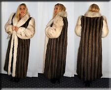 New Raccoon and Blue Fox Fur Coat Size Large 10 12 L Efurs4less