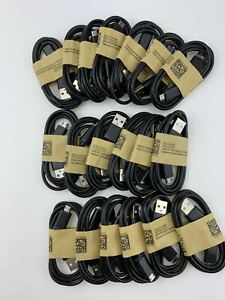 Lot Micro USB data sync V9 cable cord for Android Cell Phone universal Black