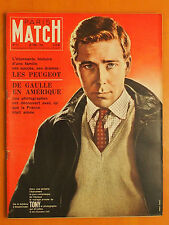 Paris Match 577 du 30//1960-Tony le photographe-Histoire des Peugeot-De Gaulle