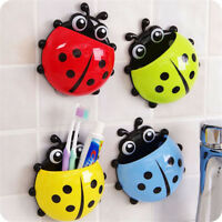 Cute Strong Sucker Vacuum Suction Cup Ladybug Wall Mount Toothbrush Holder