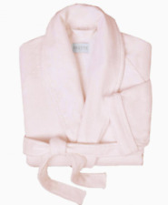 Orig $300 FRETTE Bath Robe Bathrobe Rose Shawl Collar Cotton Velour Terry Size M