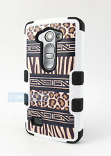 LG POWER L22C DESTINY L21G SAFARI LEOPARD NATURAL TUFF IMPACT CASE PHONE COVER