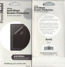 """Point Mobl 4"""" Universal Anti-Glare Camera Camcorder Screen Protectors 3 Pack"""