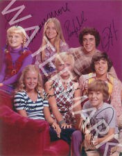 THE BRADY BUNCH CAST SIGNED 10X8 PHOTO, GREAT STUDIO IMAGE, LOOKS AWESOME FRAMED