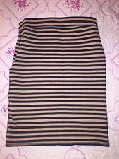 Old Navy Black Striped Spandex Skirt Size Medium