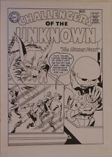 ANGEL GABRIELE original art, CHALLENGERS of the UNKNOWN #1 Jack Kirby Recreation
