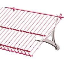 "ClosetMaid H. 6.125"" White Wire Shelf Universal Shoe Support Bracket"