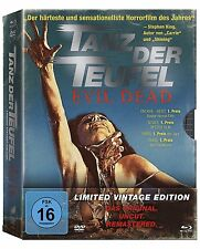 Evil Dead Uncut TANZ DER TEUFEL Limited 4 Disc Vintage Edition BLU-RAY DVD Box