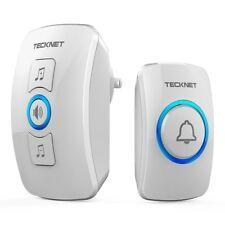 Wireless Doorbell, TeckNet Waterproof Wireless Door Bell Chime Kit with Led