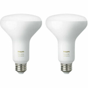 Philips Hue White Ambiance BR30 2-Pack 60W Dimmable 2 Bulbs NEW SEALED