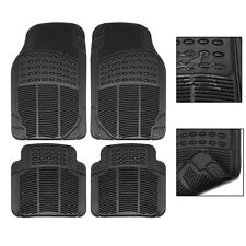 Car Floor Mats for All Weather Rubber 2 Front Pieces & 2 Rear Pieces Heavy Duty