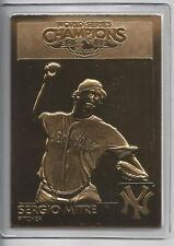 Sergio Mitre 2009 New York Yankee Danbury Mint World Series Gold Card