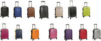 "Melbourne 20"" Expandable Carry On Travel Rolling Wheel Hard Light Luggage ABS"
