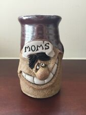 Funny Ugly Face 3D Moms Stoneware Studio Pottery Coffee Mug Signed by Artist
