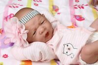 MY ADORABLE BABY GIRL !!BERENGUER PREEMIE LIFELIKE REBORN DOLL W PACIFIER,BOTTLE