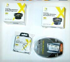 Battery + Wide Lens + Tele Lens for Sony DCR-SR58, DCR-SR68, DCR-SR78, DCR-SR88,