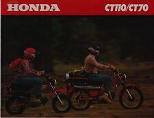 1980 HONDA CT70  CT110 New Original SALES BROCHURE