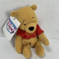 "Disney Store 8"" MINI BEAN BAG WINNIE THE POOH Stuffed Animal PLUSH SOFT TOY New"