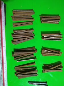 """VINTAGE SQUARE CUT NAILS, 1lbs-2oz, 83 nails total 2.5"""" Inch Hardened steel"""