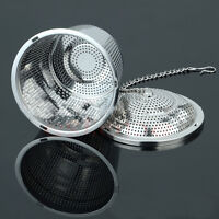 Tea Leaves Herb Spice Mesh Ball Stainless Steel Infuser Filter Strainer Hook