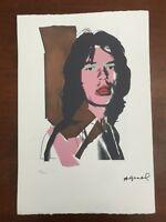 Andy Warhol Litografia 57 x 38 Arches Timbro Secco Israel Castelli AN447