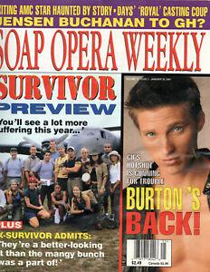 SOAP OPERA WEEKLY Magazine January 30 2001 Steve Burton Brook Kerr Winsor Harmon