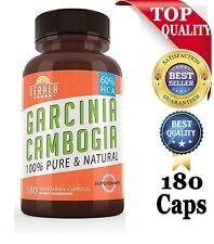 180 PURE Strongest 80% HCA GARCINIA CAMBOGIA  Weight Loss Diet Pills Fat Burner