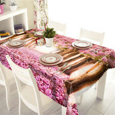 Flowers Covered 3D Tablecloth Table cover Cloth Rectangle Wedding Party Banquet