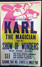 Original Karl The Magician Window Card