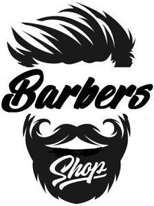 """21x16"""" LARGE barbers shop vinyl window wall art door sticker sign barber decal"""