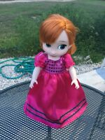 """Fits Disney Animators Doll Clothes 16"""" Toddler Party Prom Dress Pink Gown Only"""