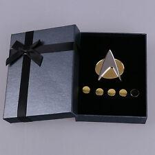 Star Trek Badge Next Generation Communicator Badge Pin And Rank Pin Set New