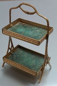 Antique Patisserie Rack Pastry Display Donut Dollhouse Soft Metal Gilt miniature