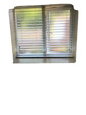 High Gloss White Wood,  Venetian Blind. Great Condition