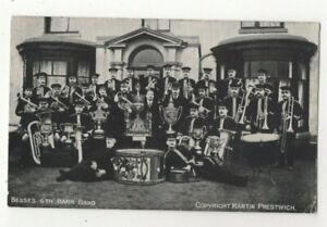 Besses O'Th Barn Band pre 1918 Vintage Postcard Music Martin Prestwich 375c
