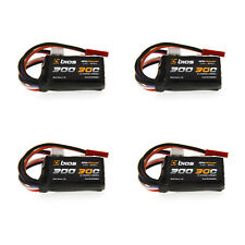 Bias RC 30C 2S 300mAh 7.4V LiPo Battery with JST and E-Flite JST-PH Plug x4 Pack
