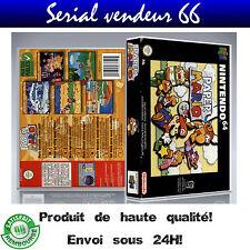 "Boitier du jeu "" PAPER MARIO "", nintendo 64, visuel PAL FR. HD"