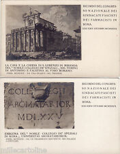#ROMA- 1927 CONGRESSO NAZ. SINDACATI FASCISTI DEI FARMACISTI- 2 CARTOLINE