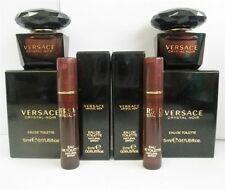 Versace Crystal Noir Mini EDT .17 oz x2 Pcs & .06 oz Spray Samples x2 Pcs