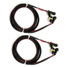 2x XENON HID Ballast to Bulb Extension Wire Harness high voltage 48 inches 4ft