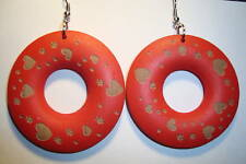 Peruvian Alpaca Silver & Wooden  Disc  Earrings~T83~uk seller