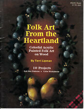 Terri Lipman : FOLK ART FROM THE HEARTLAND Painting Book - VINTAGE!