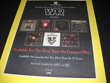 War Eric Burdon catalog re-release 1992 b/w Promo Poster Ad mint condition