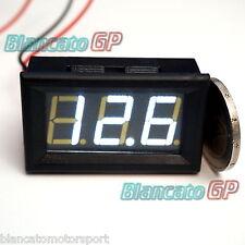 Voltmetro digitale 3-30V LED BIANCO [tensione tester pannello auto moto camper