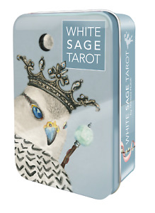 Cards in tin box, Soft pastel colors, 78 cards, White Sage Tarot Deck Cards
