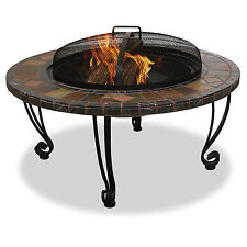 Endless Summer 34 Inch Outdoor Wood Burning Marble and Slate Fire Pit | WAD820SP