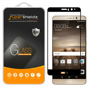 Supershieldz for Huawei Mate 9 Full Cover Tempered Glass Screen Protector -Black